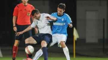 A tavaly április mérkőzésen Kovács Olivér nem csak védekezett, gólt is szerzett